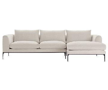 Design Within Reach Jonas Sectional w/ Right Chaise in Shell