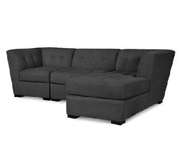 Macy's Roxanne Gray Sectional Sofa