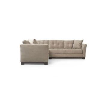 Macy's Elliot 2 Piece Sectional Sofa + Matching Ottoman