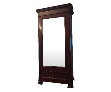 Grange Cherry Armoire w/ Beveled Mirror