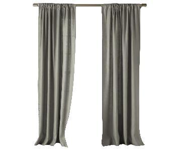 West Elm Grey/Platinum/Silver Unlined Curtains