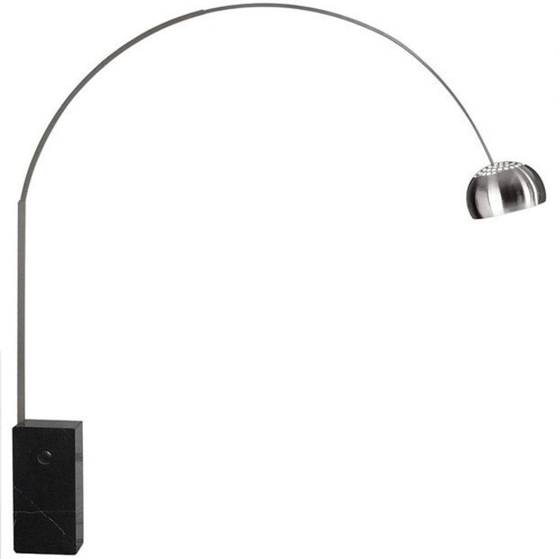 Manhattan Home Design Arch Floor Lamp in Black