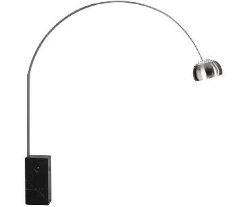 Manhattan Home Design Arch Floor Lamp in Black