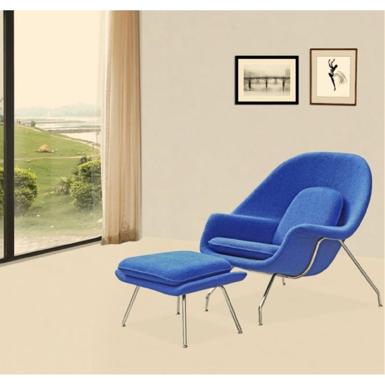 Manhattan Home Design Womb Chair & Ottoman in Blue-0