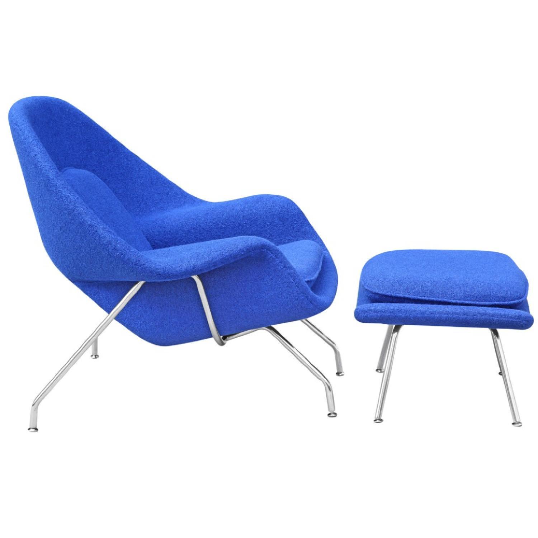 Manhattan Home Design Womb Chair & Ottoman in Blue-1