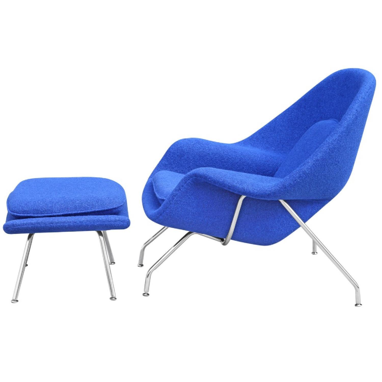 Manhattan Home Design Womb Chair & Ottoman in Blue-3