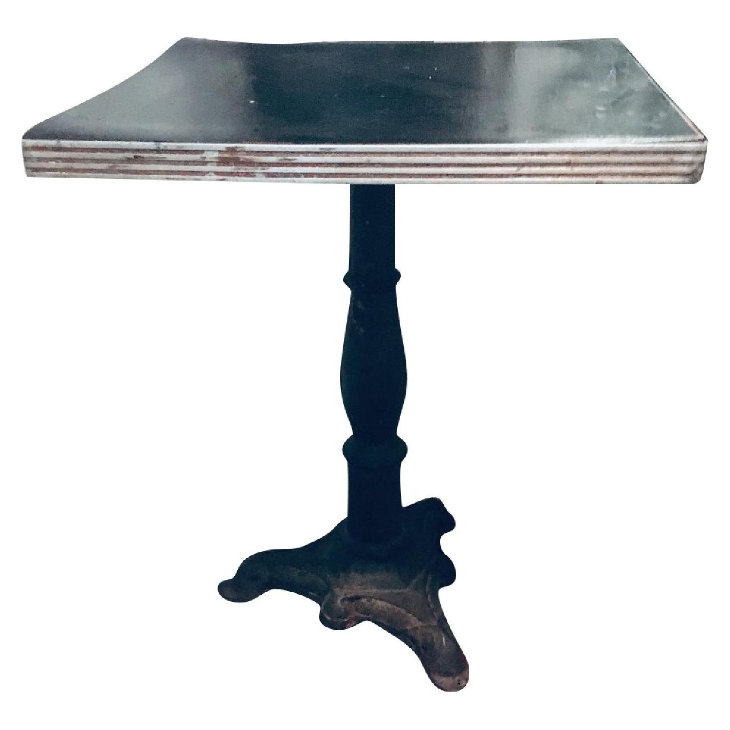 Antique Cafe Table w/ Pedestal Stand