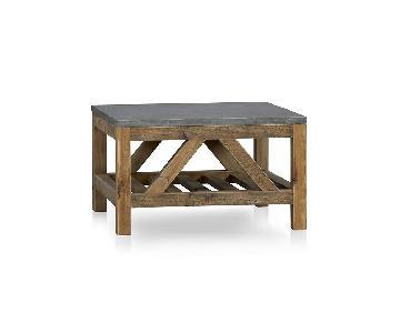 Crate & Barrel Bluestone Coffee Table