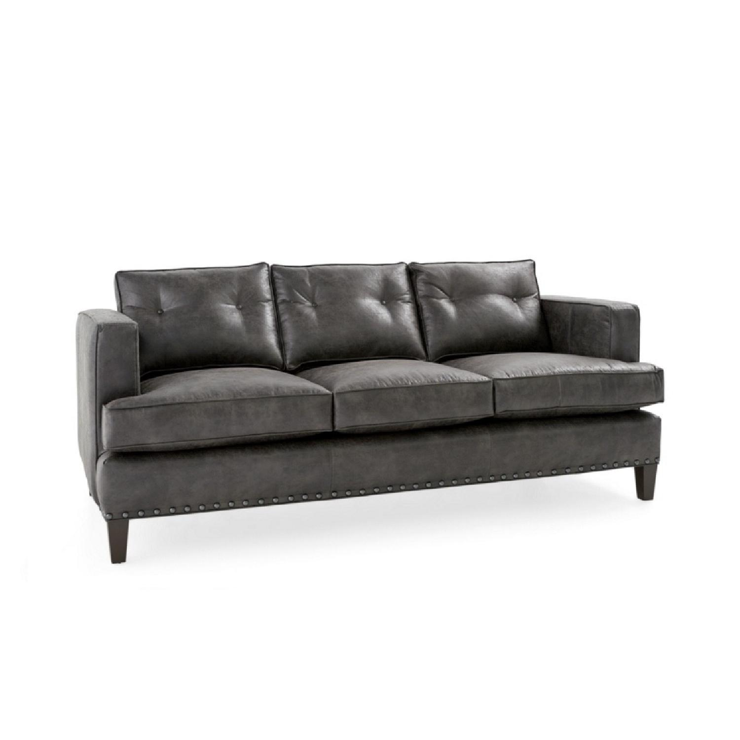 Arhaus Flanders Leather 3 Seater Sofa