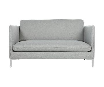 CB2 Flatiron Grey Apartment Sofa