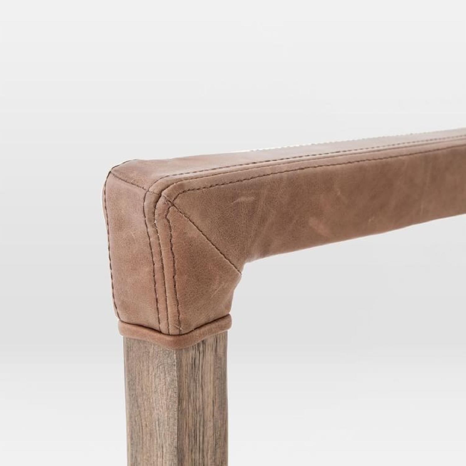 West Elm Wood & Fabric Chair w/ Leather Accent - image-4