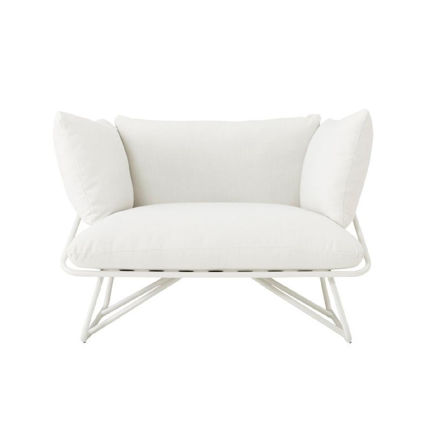CB2 Pool Party White Outdoor Lounge Chair