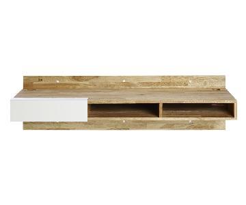 Lax Modern Floating Desk w/ Storage