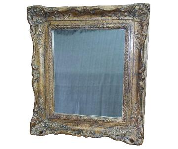 1920's Handcrafted Victorian Golden Wood Frame Mirrors