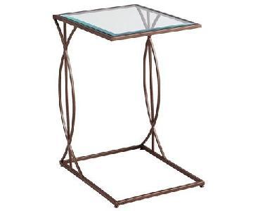 Pier 1 Metal & Glass C Table