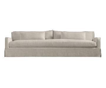 Restoration Hardware Belgian Slope Arm Linen sofa