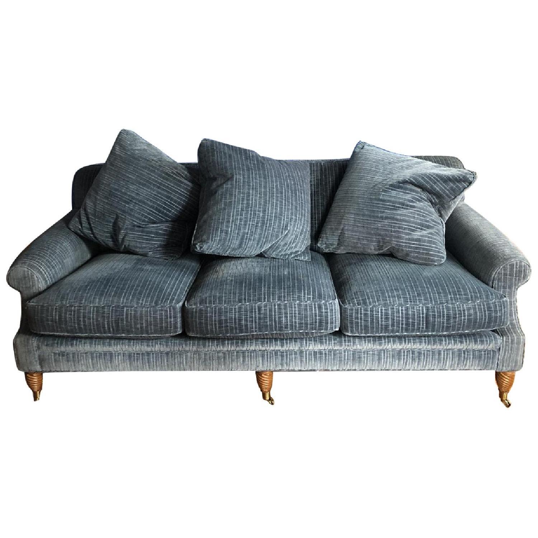 Edward Ferrel Ltd Blue Fabric Sofa