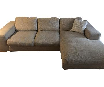 Design Within Reach Chaise Sectional Sofa