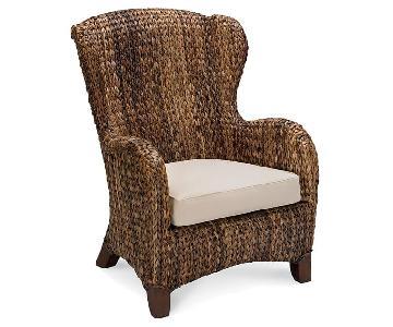 Pottery Barn Brown Wicker Chair