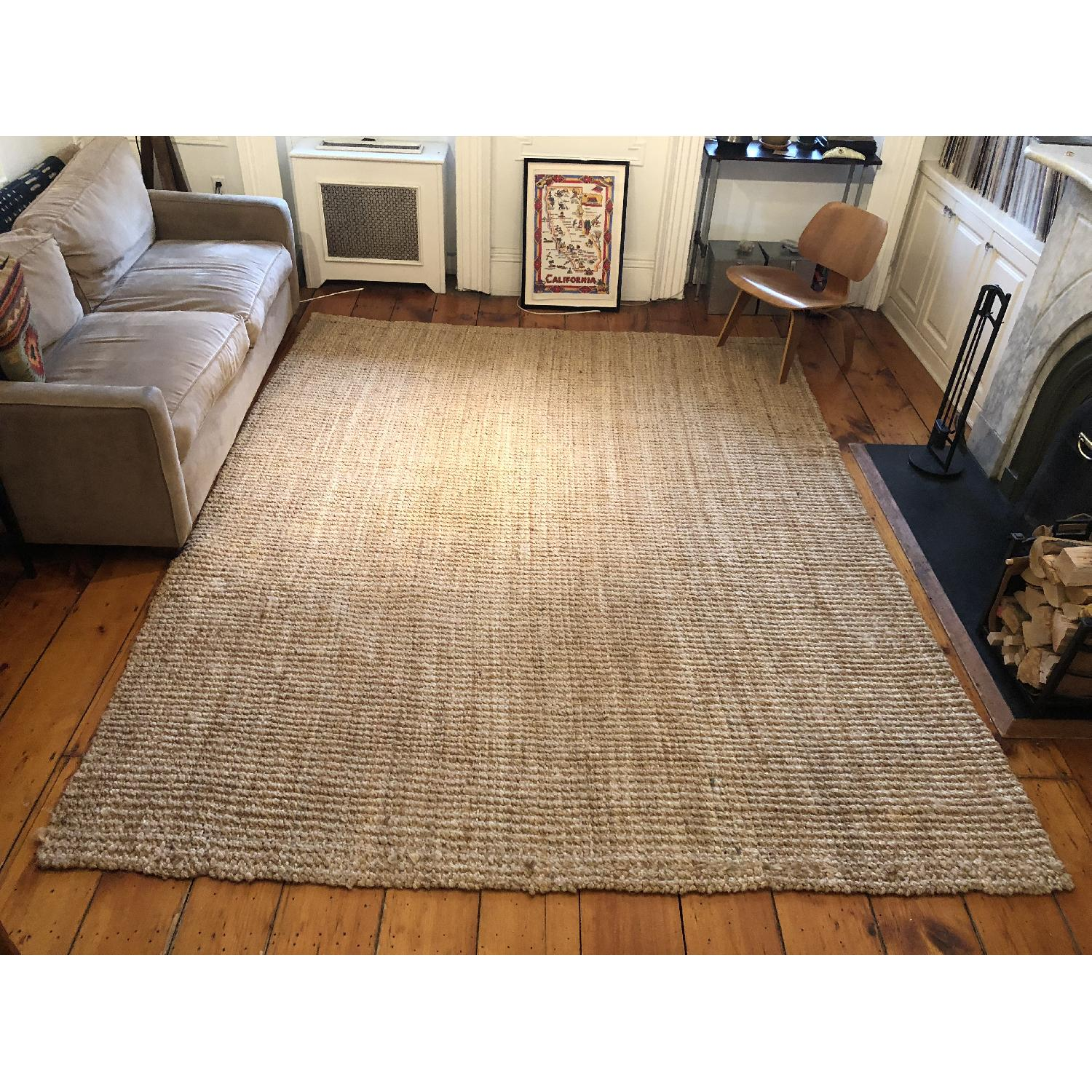West Elm Jute Boucle Rug in Flax-0
