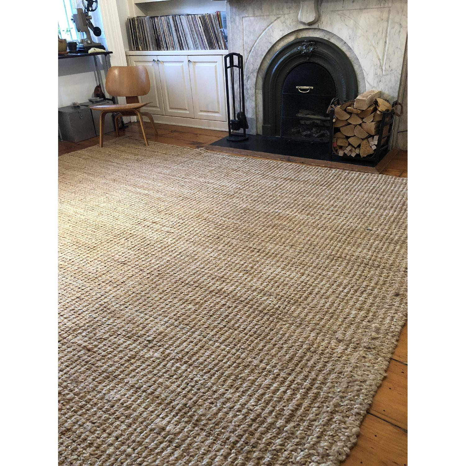 West Elm Jute Boucle Rug in Flax-1