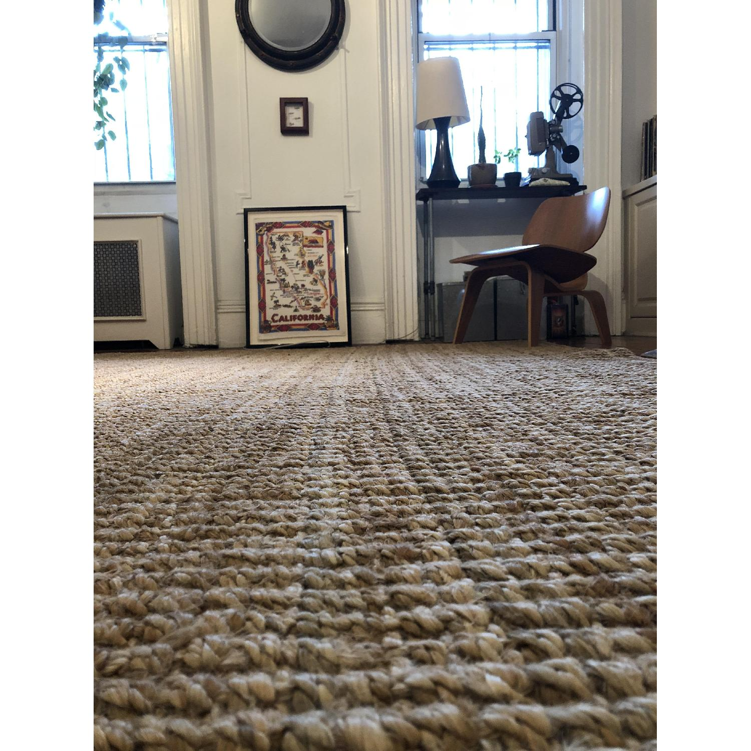 West Elm Jute Boucle Rug in Flax-2