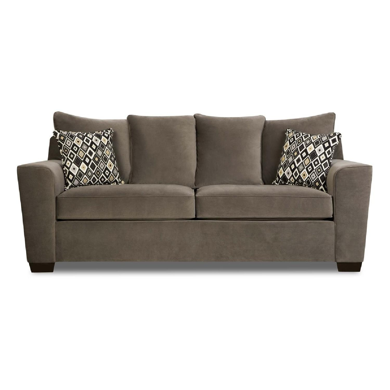 Jennifer Convertible Gray Sleeper Sofa + Oversized Chair