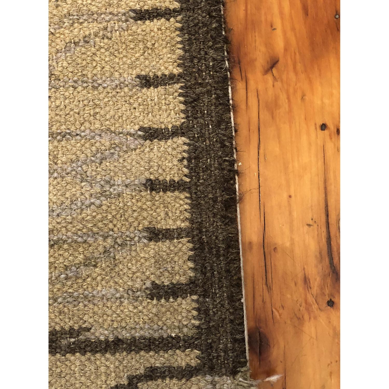 Crate & Barrel Vintage Wool Modern Patterned Rug-2