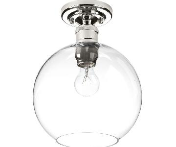 Mercury Row Semi-Flush Mount Glass Light Fixture in Chrome