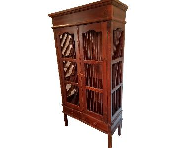Faux Antique China/Display Cabinet