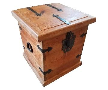 Rustic Solid Wood Chest w/ Metal Detailing