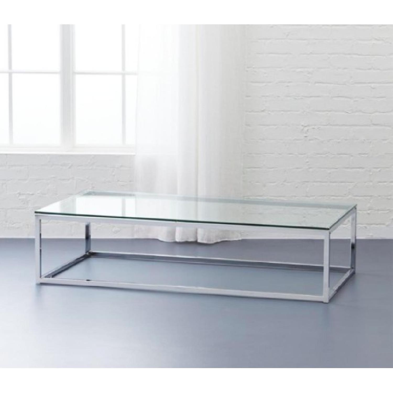 CB2 Smart Glass Top Coffee Table - image-1