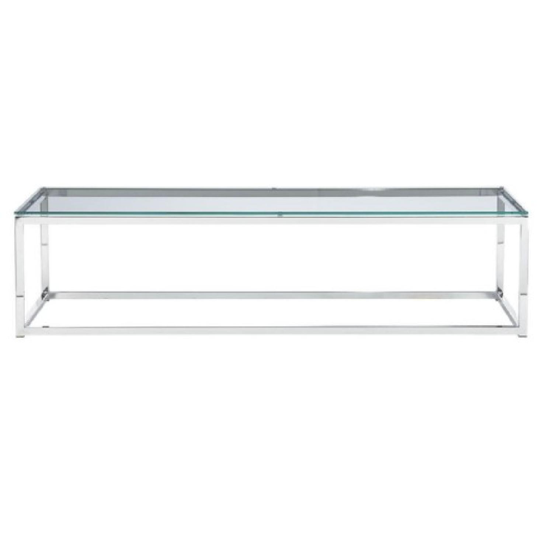 CB2 Smart Glass Top Coffee Table - image-0