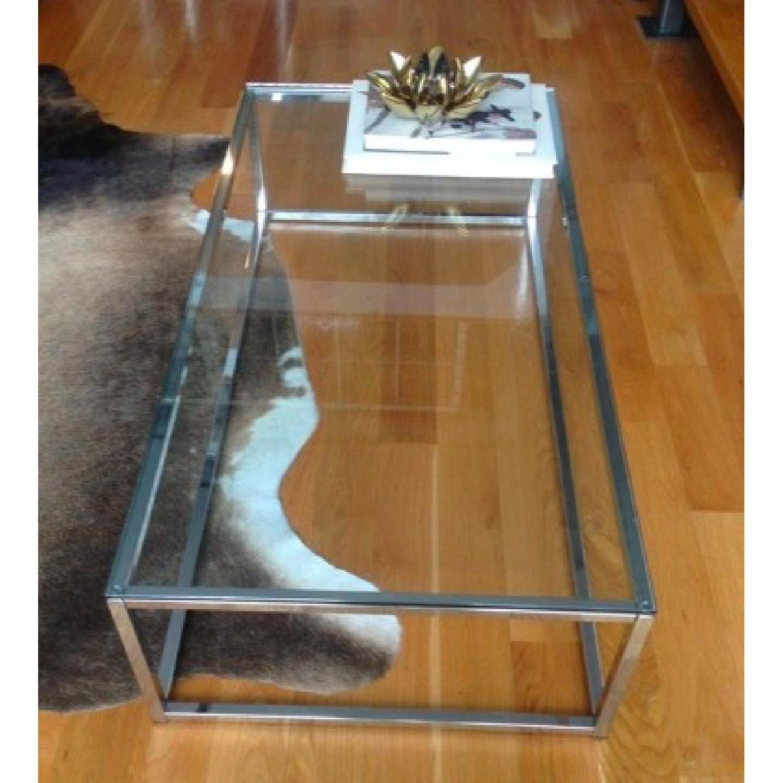 CB2 Smart Glass Top Coffee Table - image-2