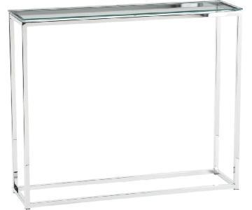 CB2 Smart Glass Top Console Table
