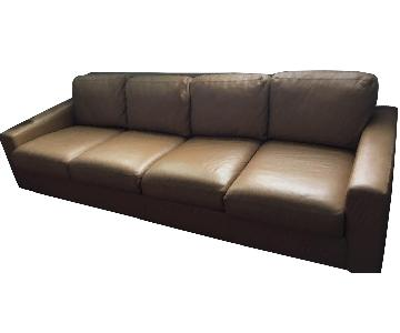 Design Within Reach Caramel Leather Sofa