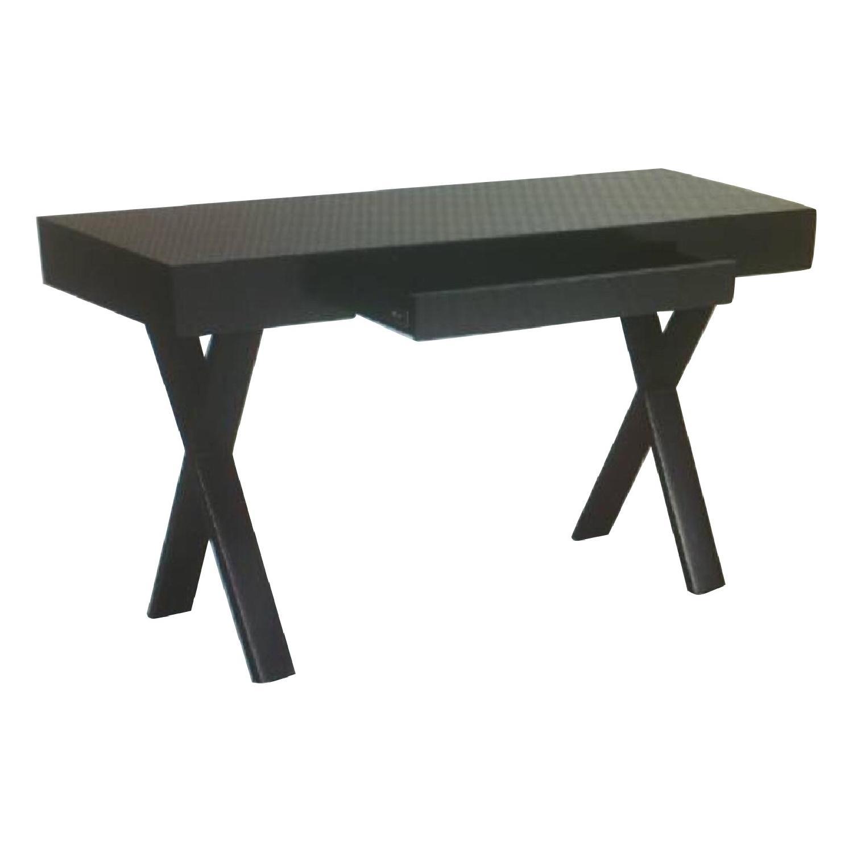Dark Brown Desk w/ Single Drawer