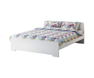 Ikea Queen Size Bed Frame in White