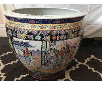 Vintage Chinoiserie Planter/Fish Bowl