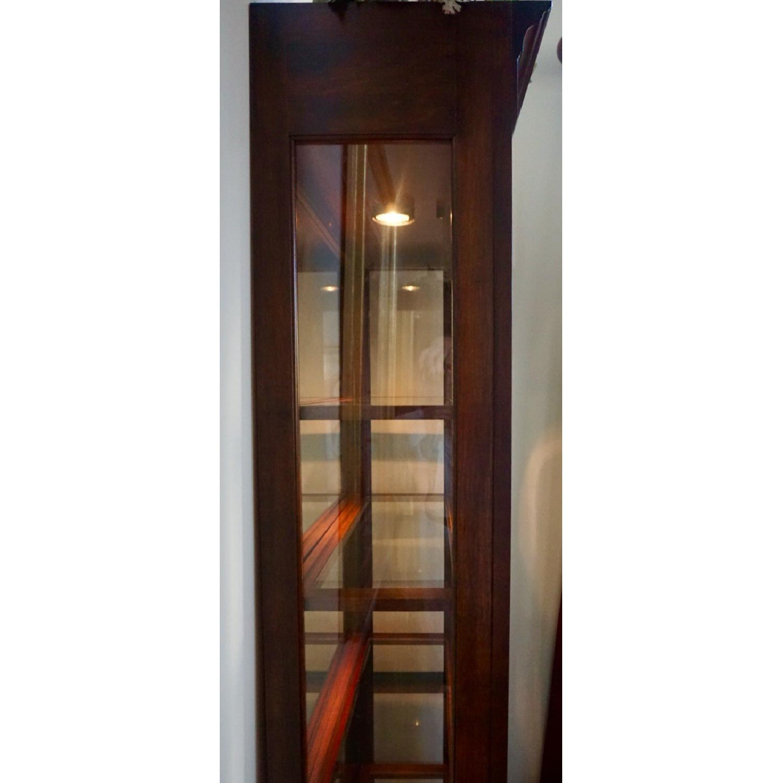 Jasper Lighted Curio Cabinet - AptDeco