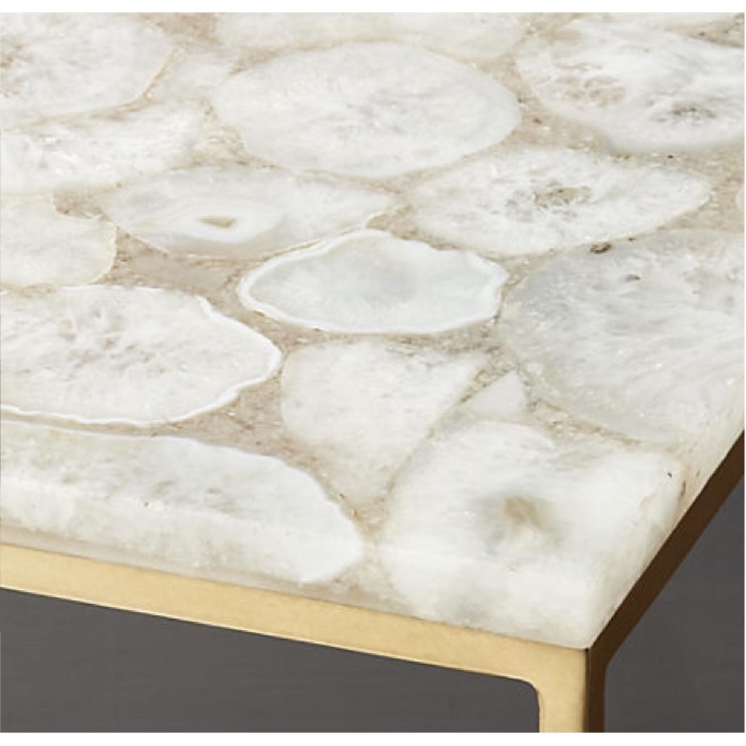 CB2 Iris White Agate Side Table-3