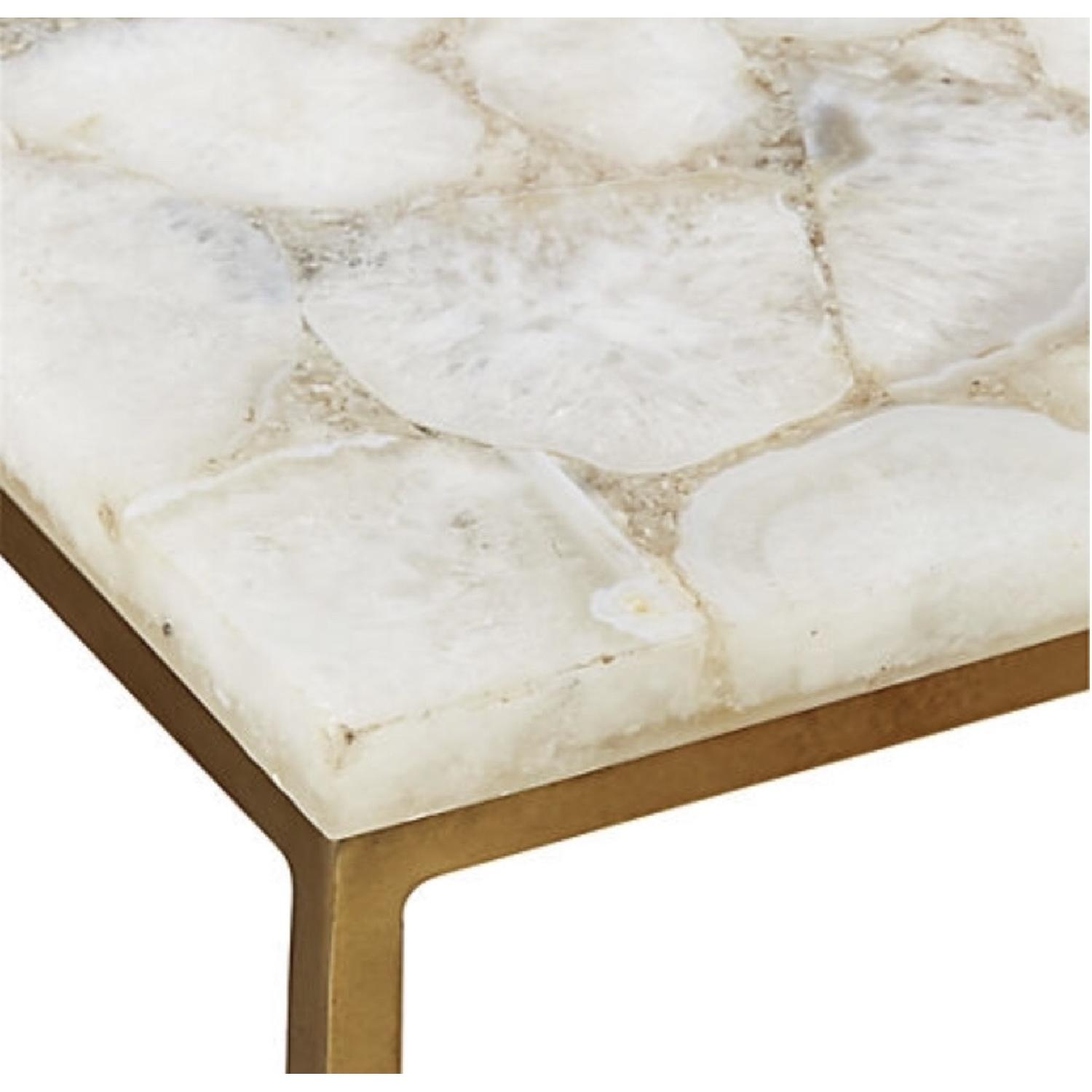 CB2 Iris White Agate Side Table-6