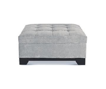 Macy's Elliot II Fabric Square Storage Ottoman
