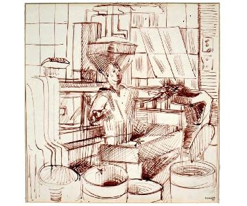 Edith Kramer 1947 - Creator of Art Therapy Man at Work
