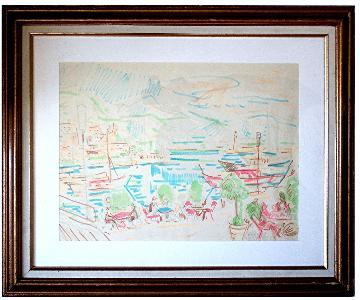 Wilhelm Kaufmann 1895-1975 Austrian : 1956 Monaco Print