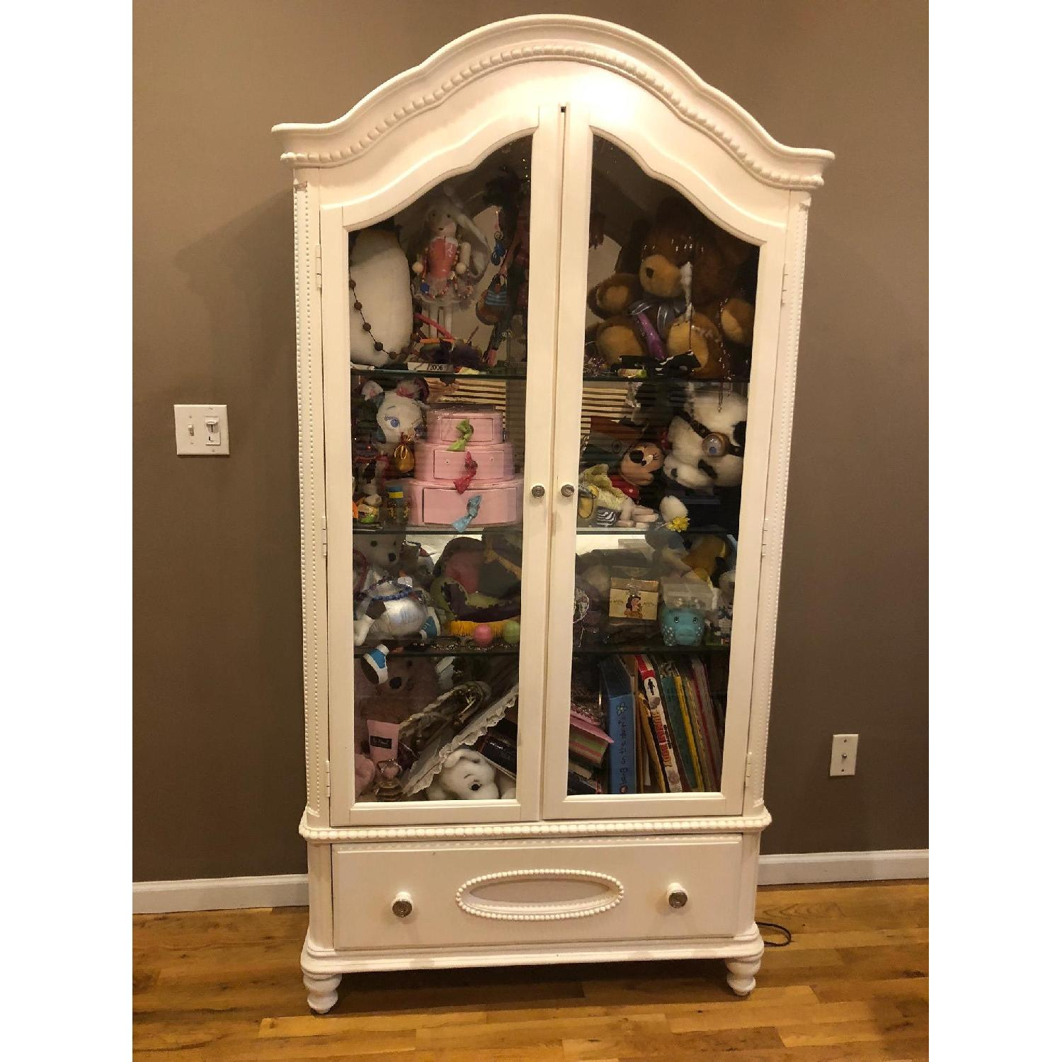 Glass Front Armoire w/ Glass Shelves-0