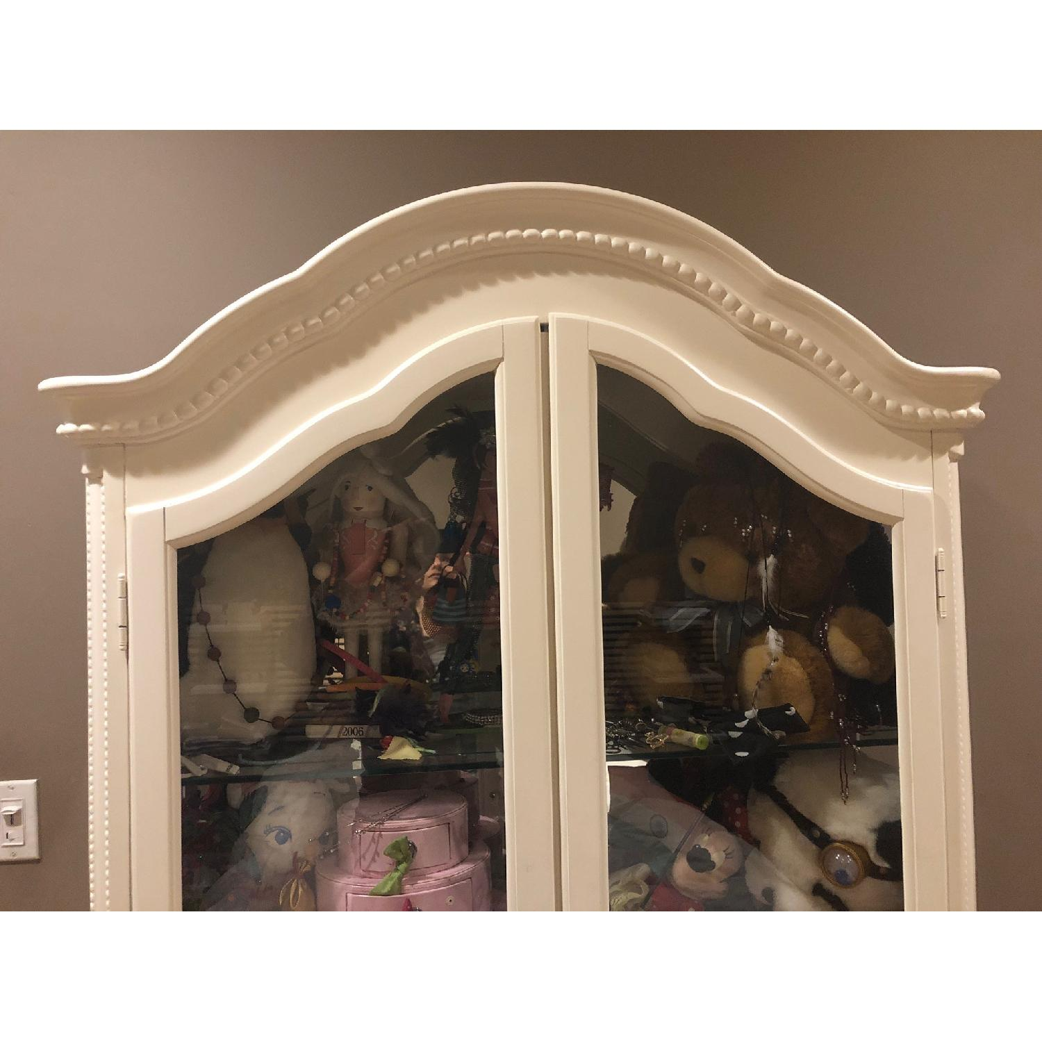 Glass Front Armoire w/ Glass Shelves-2
