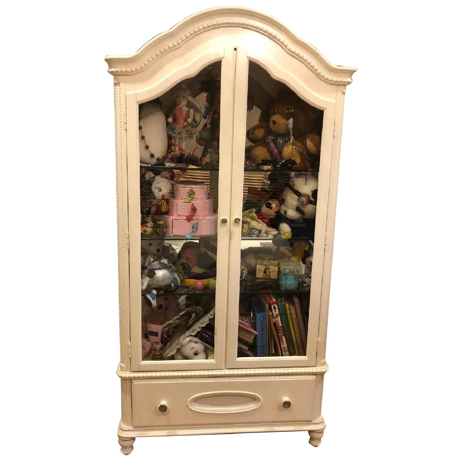 Glass Front Armoire w/ Glass Shelves