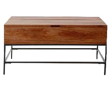 West Elm Industrial Pop-Up Storage Coffee Table