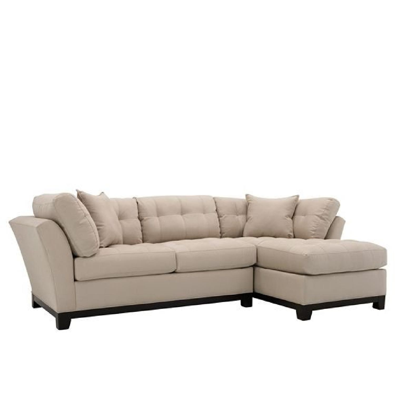 Raymour & Flanigan Cindy Crawford 2-Piece Sectional Sofa
